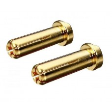 Battery 5mm Gold Bullet Connector low profile Male 6pcs with Heatshrink