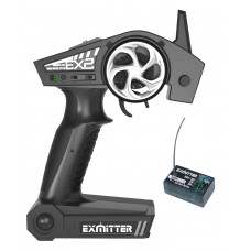 EXHOBBY ExEX2 EX2 2.4GHz 2-Channel Radio with receiver