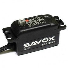 Servo Savox SC1251MG-BE - Black Edition Low Profile Digital Servo