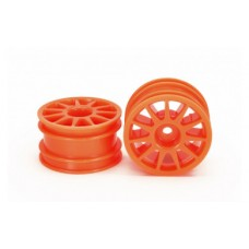 M-Chassis Wheel Tam54913 11-Spoke Wheels - Fluorescent Orange (2)