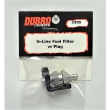 Dubro 2305 Standard In-Line Fuel Filter w/Plug