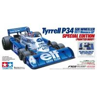 C Tam47392 R/C 1/10 Tyrrell P34 Six Wheeler 1977 Monaco GP Special Edition (Painted Body)