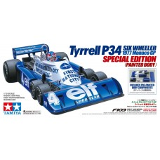 C Tam47392 R/C 1/10 Tyrrell P34 Six Wheeler 1977 Monaco GP Special Edition (Painted Body)