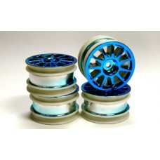 M-Chassis Wheel Tam49467 11-Spoke (4pcs) Blue