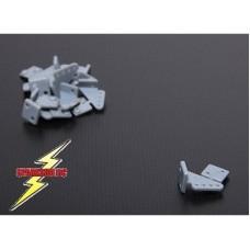 HK 0020X15X4 Servo Control Pin Horns - Grey - 20x15mm (4 pc)