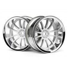 HPI 3285 - WORK XSA 02C WHEEL 26mm CHROME/WHITE (9mm OFFSET)