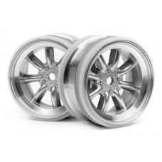 HPI 3938 - MX60 8 SPOKE WHEEL MATTE CHROME (3mm OFFSET/2pcs)