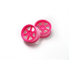 HK 1:10 Rally/Touring Wheel 6-Spoke Neon Pink (9mm Offset) PP0378P(9)