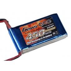 Battery Gensace 450mAh 7.4V 25/50C 2S1P LIPO BATTERY PACK