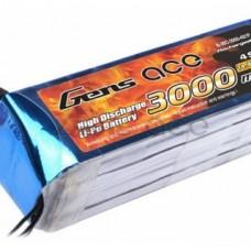 Battery Gensace 4S1P 3000mAh 14.8v 25-50CC Lipo battery pack